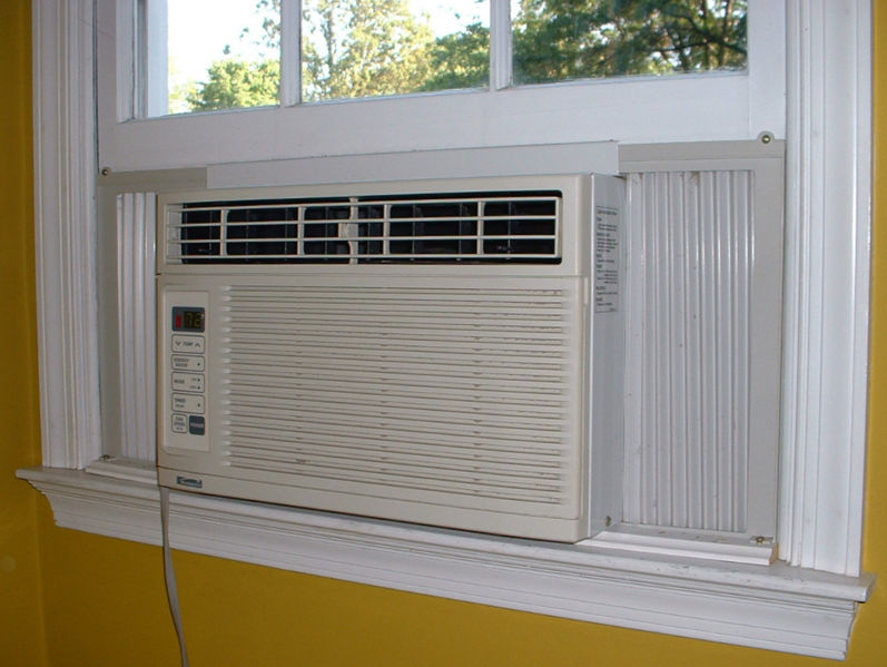 Seal around your window air conditioning unit to save on energy bills